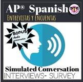 AP Spanish:Interview/ Survey conversations test review / G