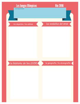 AP Spanish - Juegos Olímpicos Jigsaw Activity / Cultural C