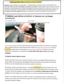 AP Spanish La Vida Contemporánea - 5 hábitos malos - bad h