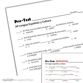 AP Spanish Language Diagnostic Exam with Key