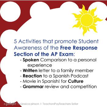 AP Spanish Language Summer Work - Tarea de Verano!
