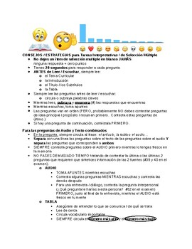 AP Spanish Language Tips for Interpretive Communication (Part A, B-1, and B-2)