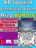 AP Spanish Language Vocabulary and Free Response Activities Bundle