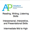 AP Spanish Language and Culture Placement Exam Intermediate Mid to Advanced High