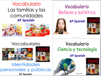 AP Spanish Language and Culture Vocabulary Practice for Temas. BUNDLE