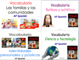 AP Spanish Language and Culture Vocabulary Practice for Temas. BUNDLE