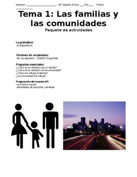 AP Spanish Las familias y comunidades Cover Page