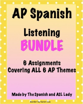 AP Spanish Listening Questions - Varied Test Prep BUNDLE