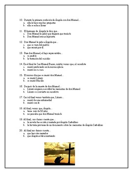 AP Spanish Lit- Exam-San Manuel Bueno