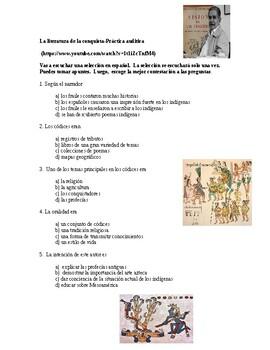 AP Spanish Lit- Practica auditiva-Encuentro de dos mundos