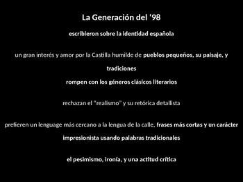 AP Spanish Literature & Culture Generación del 98 introduction