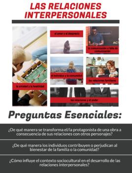 AP Spanish Literature & Culture Poster - Las Relaciones Interpersonales