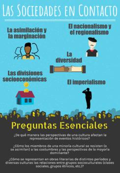 Ap Spanish Literature Culture Poster Sociedades En Contacto Tpt