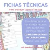 AP Spanish Literature: Fichas técnicas