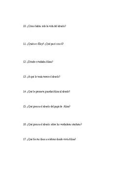 AP Spanish Literature-Las ataduras-Preguntas de comprension