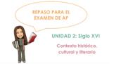 AP Spanish Literature Review - Unit 2