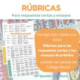 AP Spanish Literature - Rubrics