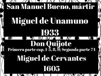 AP Spanish Literature Timeline--Obras:  La creación literaria