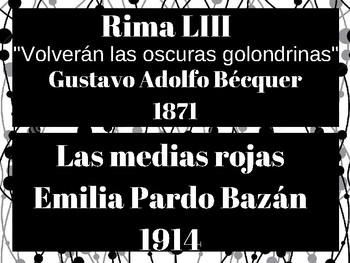 AP Spanish Literature Timeline--Obras: Relaciones Int. & Construcción del Género