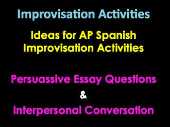 AP Spanish Persuassive Essay Ideas | AP  Diaries | Diarios