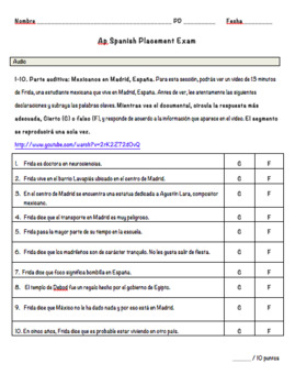 AP Spanish Language and Culture Placement Exam