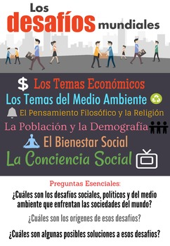 AP Spanish Language & Culture Poster - Los Desafios Mundiales