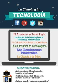 AP Spanish Language & Culture Poster - La Ciencia y la Tecnologia