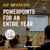 AP Spanish PowerPoints for an Entire Year Bundle Distance