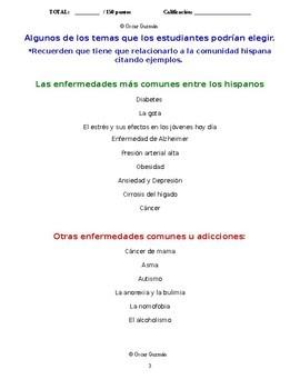 AP Spanish Presentación oral: La ciencia y la tecnología- La salud y la medicina