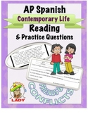 AP Spanish Reading - Contemporary Life - Friends & Conflict - TEST PREP