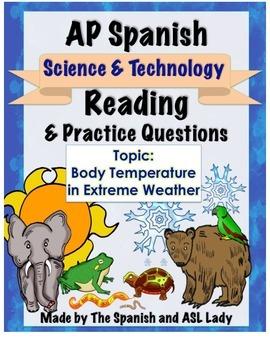 AP Spanish Reading - Science & Tech - Animals & Hibernatio