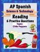 AP Spanish Reading - Science & Tech - Test Prep BUNDLE 1