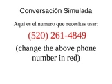 AP Spanish Simulated Conversation with timed PPT/Google Voice