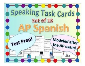 AP Spanish Speaking Task Cards IPA