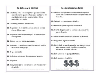 AP Spanish Speaking Task Cards IPA