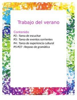 AP Spanish Summer Packet