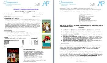 AP Spanish Language and Culture Syllabus. College Board.