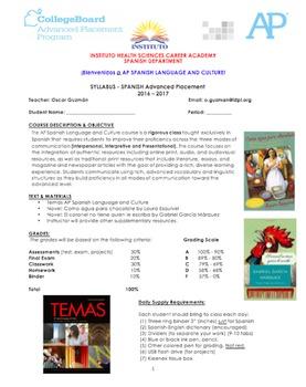 AP Spanish Syllabus. College Board.