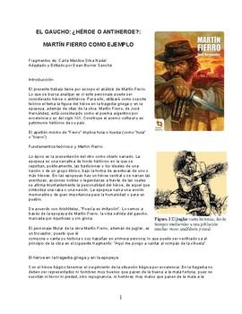 AP Spanish Synthesis essay / Ensayo de síntesis (Gauchos - Martín Fierro)