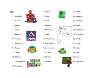 AP Spanish - Triangulo Chapter 7 - Escuela