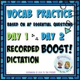 AP Spanish Vocabulary Enrichment Boost! Practice Bundle wi