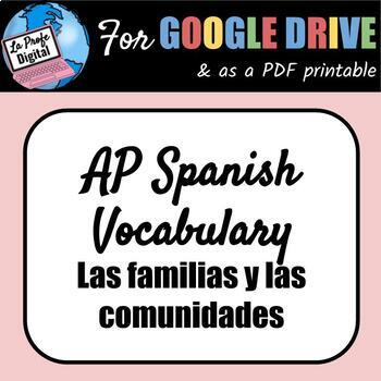 Spanish Vocabulary Lists Worksheets & Teaching Resources | TpT
