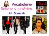 AP Spanish Vocabulary Practice for Temas: La belleza y estética. Full Package.