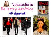 AP Spanish Vocabulary Practice for Temas: La belleza y estética. Full Package.