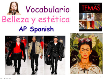 AP Spanish Vocabulary Practice for Temas: La belleza y est