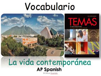 AP Spanish Vocabulary Practice for Temas: La vida contemporánea