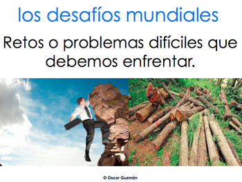 AP Spanish Vocabulary Practice for Temas: Los desafíos globales mundiales