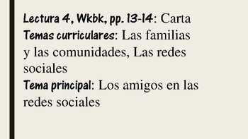APs Spanish: Reading 4, Vocabulary and Grammar Preliminary Exercises
