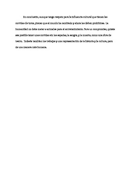 AP Spanish persuasive essay samples