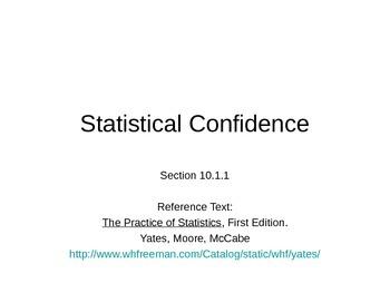 AP Statistics 10.1.1: Statistical Confidence